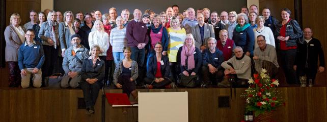 Ehrenämtler auf der Konferenz