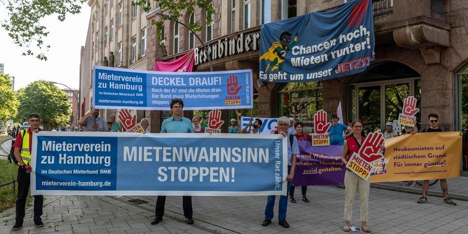 Mietenstopp Demo Hamburg