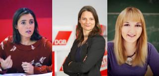 Sophie Binet, Katja Karger, Stefanie Holtz