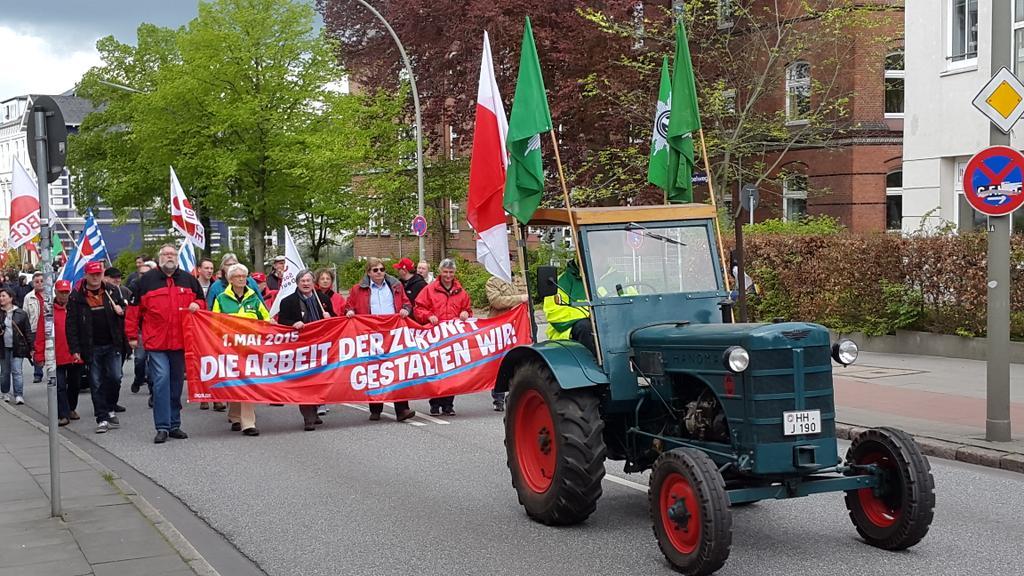 Der Demozug in Bergedorf