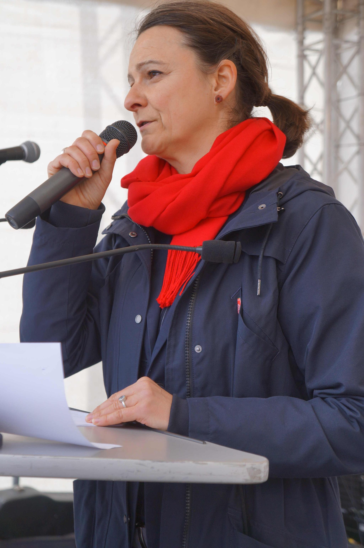 Katja Karger redet