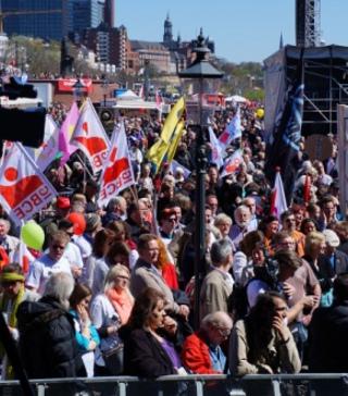Kundgebung am Fischmarkt