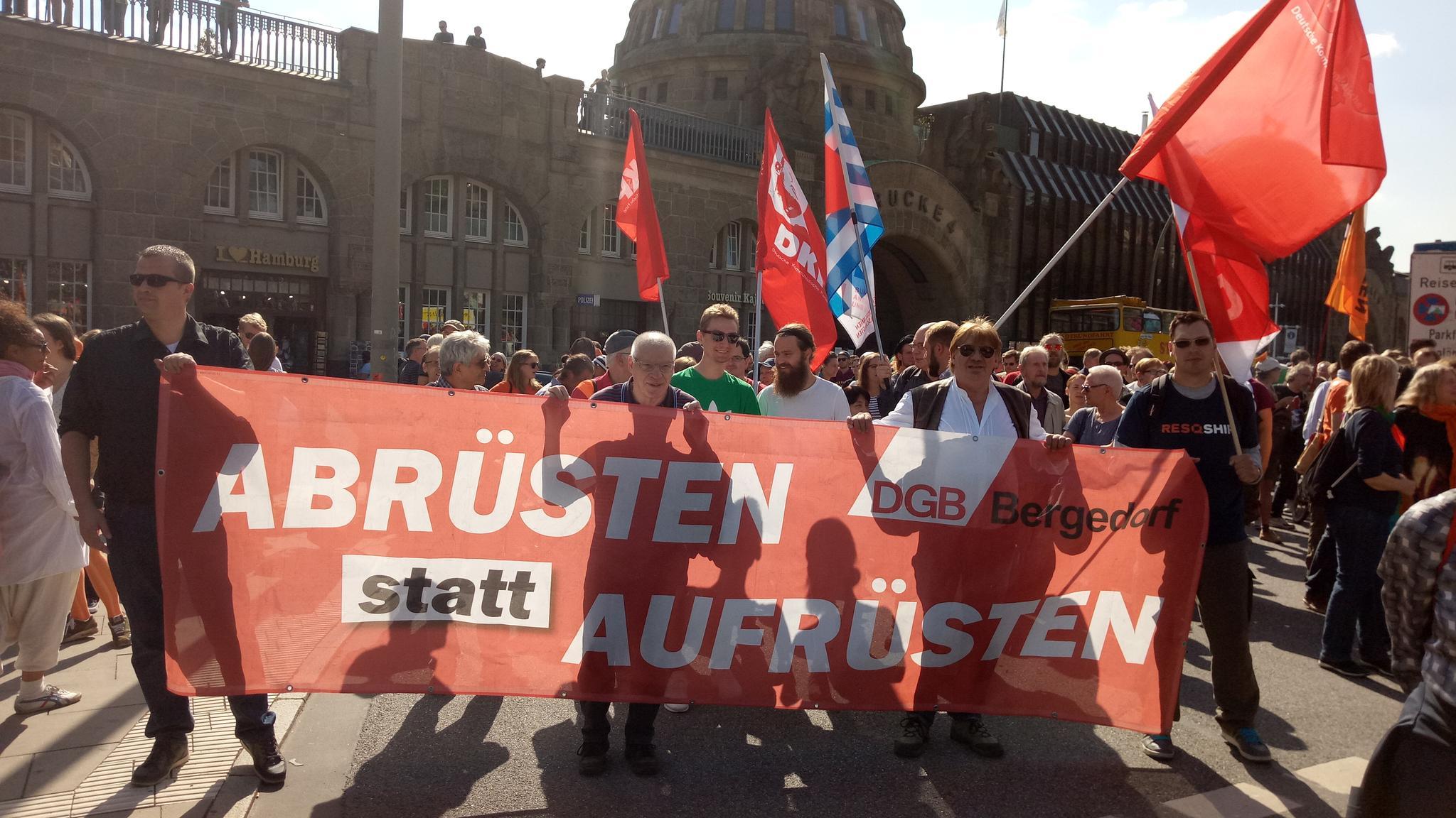 DGB Bergedorf bei Seebrücke-Demo