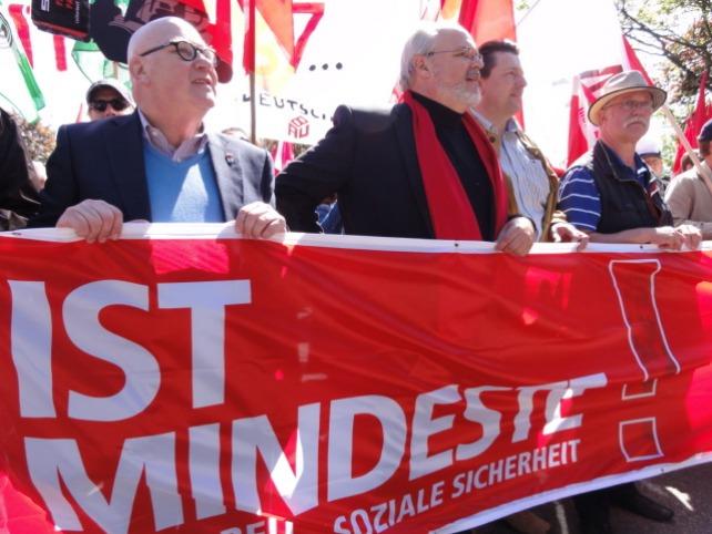 Die 1. Mai Demonstration in Hamburg