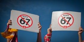 IG Metall Jugendliche gegen Rente mit 67