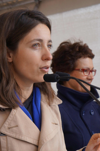 Sophie Binet am 1.Mai 2015 in Hamburg