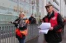Gewerkschaftsaktionen beim CDU Parteitag 2018 in Hamburg