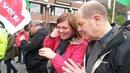 Katharina Fegebank und Olaf Scholz auf der Maidemo in Hamburg