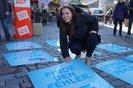 Straßenaktion gegen den Missbrauch von Leiharbeit und Werkverträgen