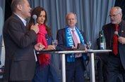Talk mit Bürgermeister Olaf Scholz, Gerhard Robbers und Uwe Grund.